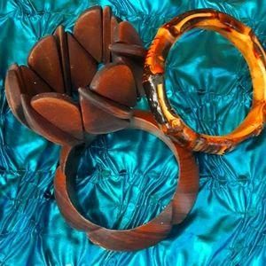 Vintage Wood Bracelet